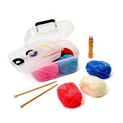 Atelier créatif : Set d'initiation tricot et tricotin